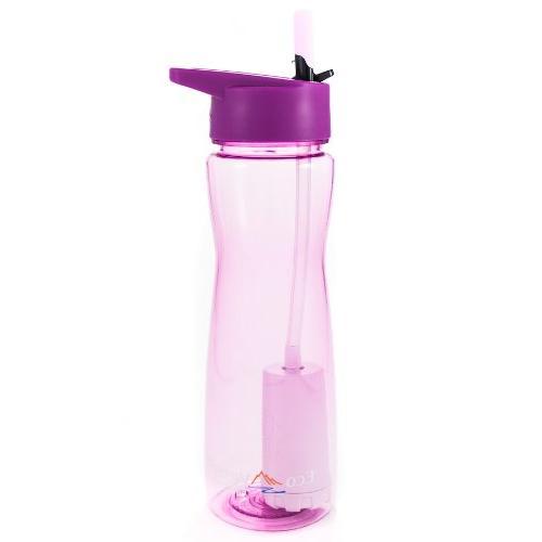 Aqua Vessel- Ultra Lite Tritan Filtration 25 oz Violet Eco V