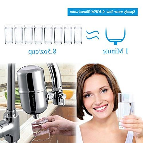 Engdenton Faucet Stainless-Steel Water Flow, Purifier with , for Faucets-Fits Standard Faucets