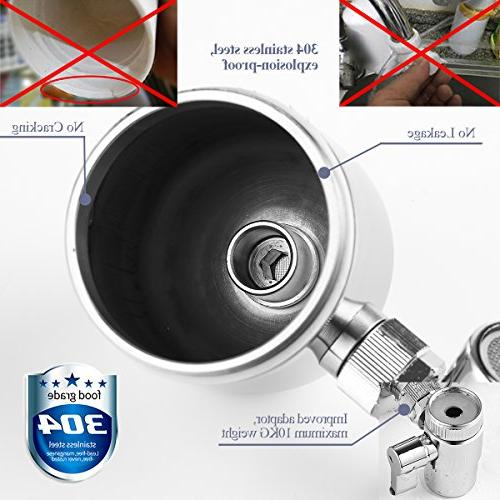 Engdenton Stainless-Steel Reduce Water with Ultra Adsorptive Material , Filters for Faucets-Fits Standard Faucets