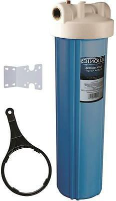 """20"""" Big Blue Water Filter Housing System uses standard 4.5 x"""