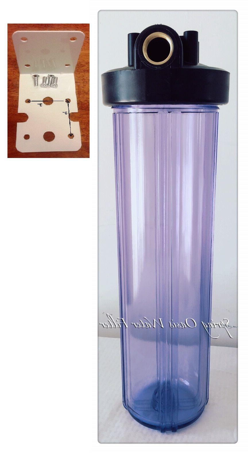 """Big Fat 20"""" Jumbo Size Clear Whole House Water Filter System"""