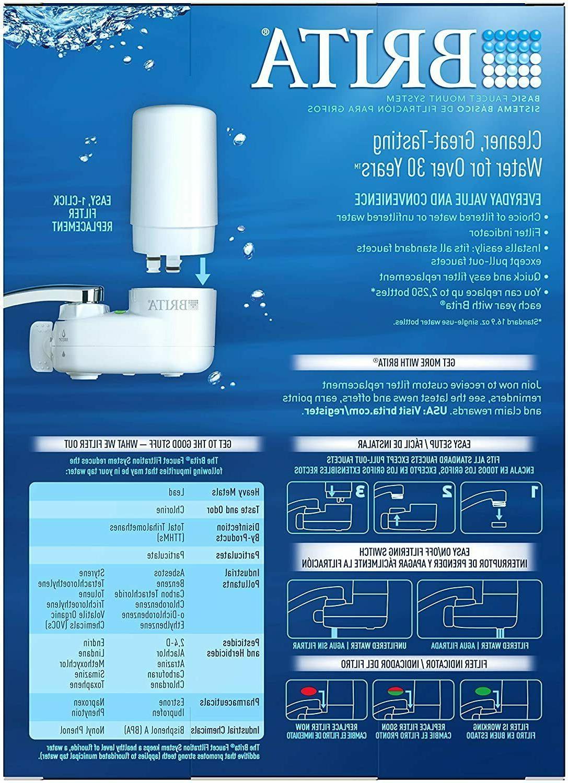 Brita System Purifier Cleanser Filtration Tap