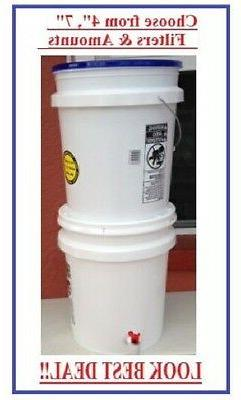 GRAVITY WATER FEED FILTER SYSTEM CERAMIC  5 Gallons BUCKETS