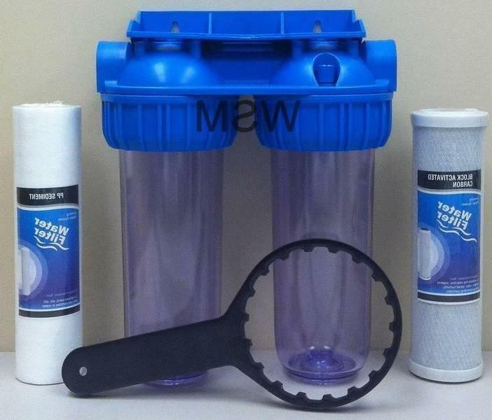 dual whole house water filter purifier