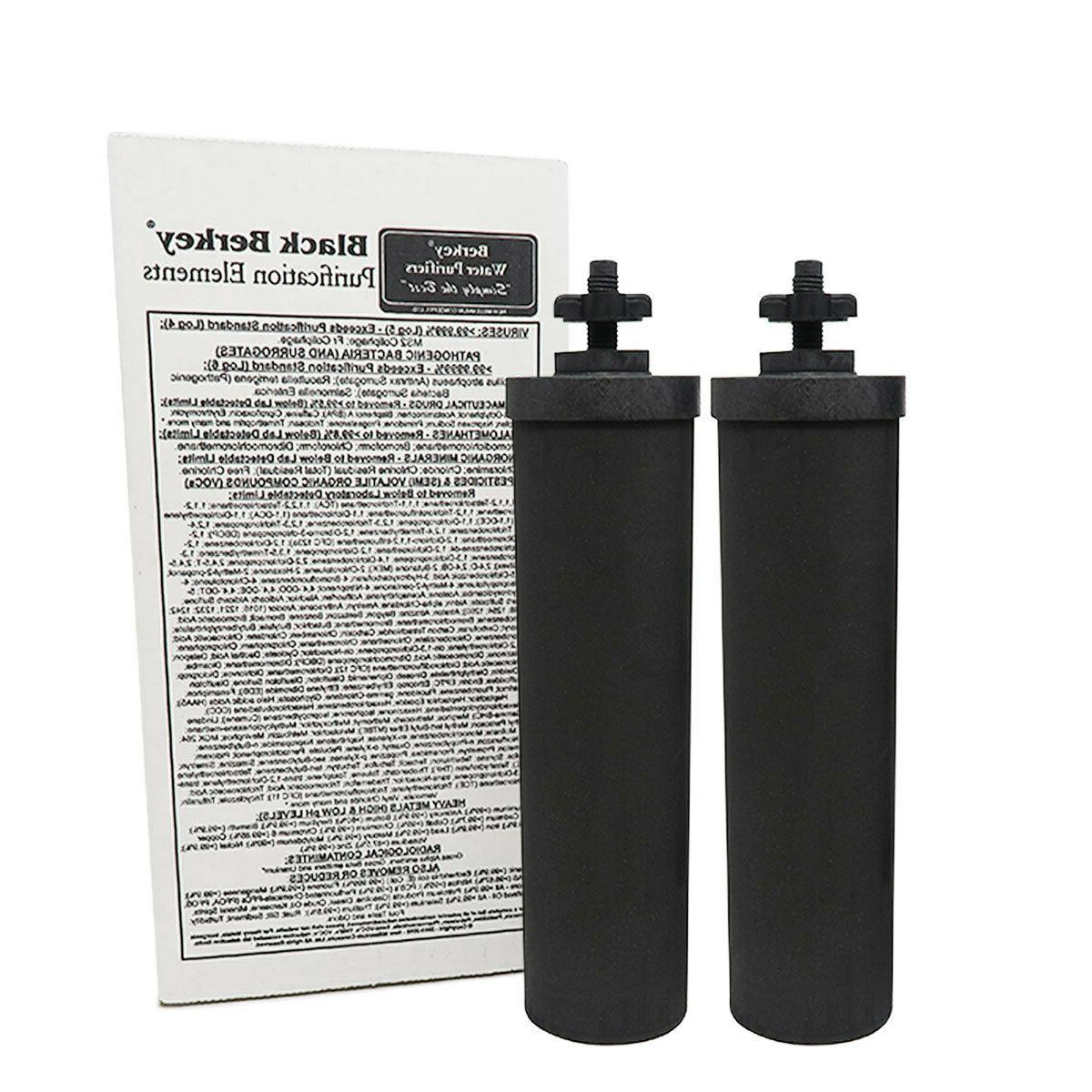 Factory Travel Berkey Water Filter w/ 2 Black NEW