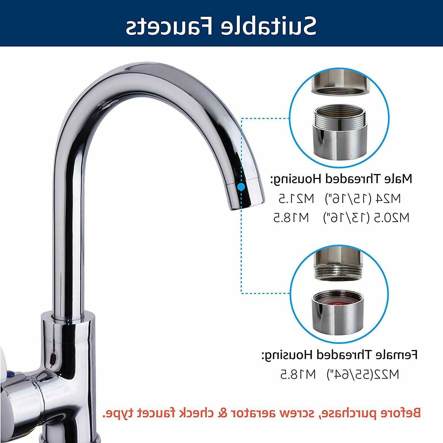 Faucet Water Water Filter, Lead, Flouride & Chlorine Fits