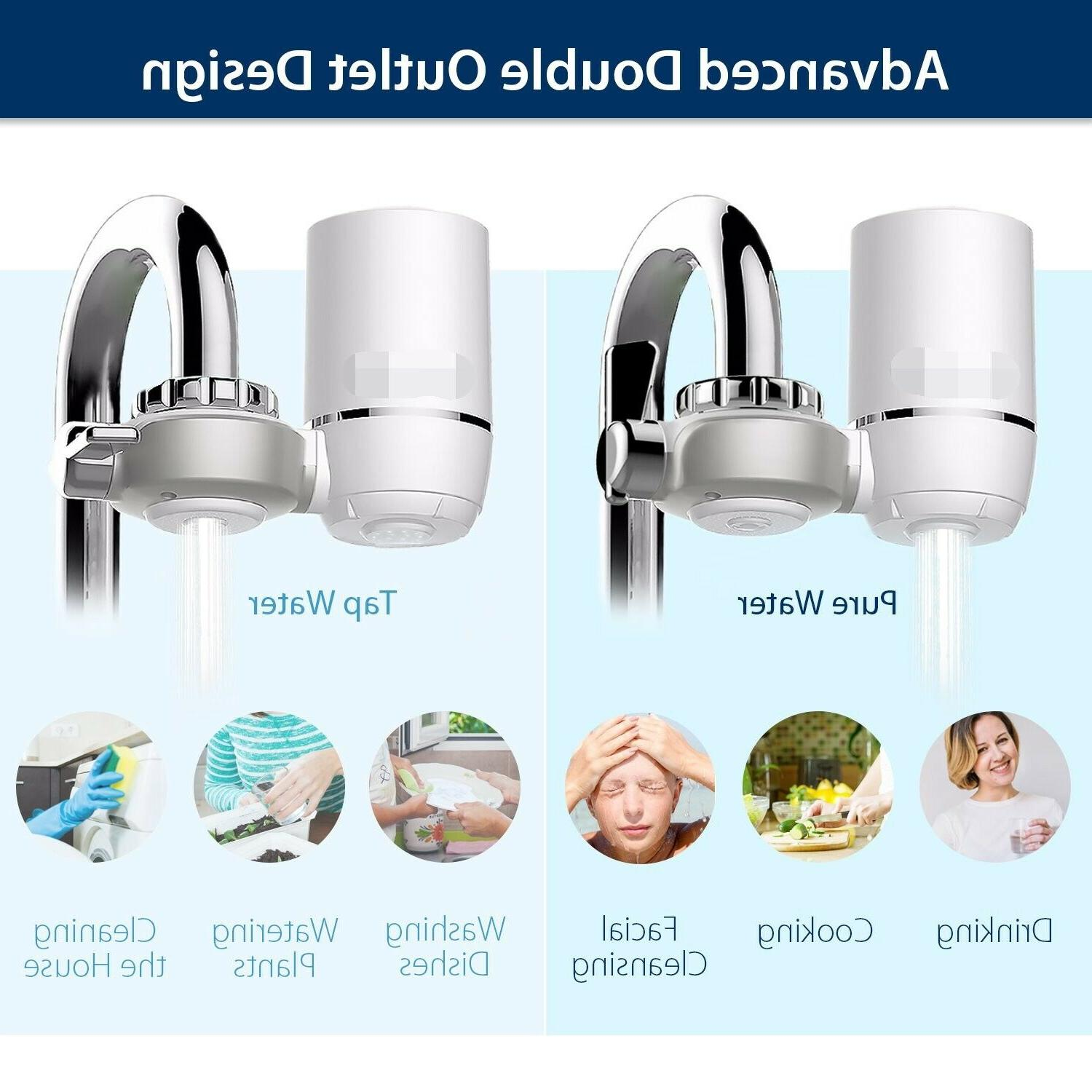 Faucet Water Filter, Tap Water Removes Lead, Flouride & Fits