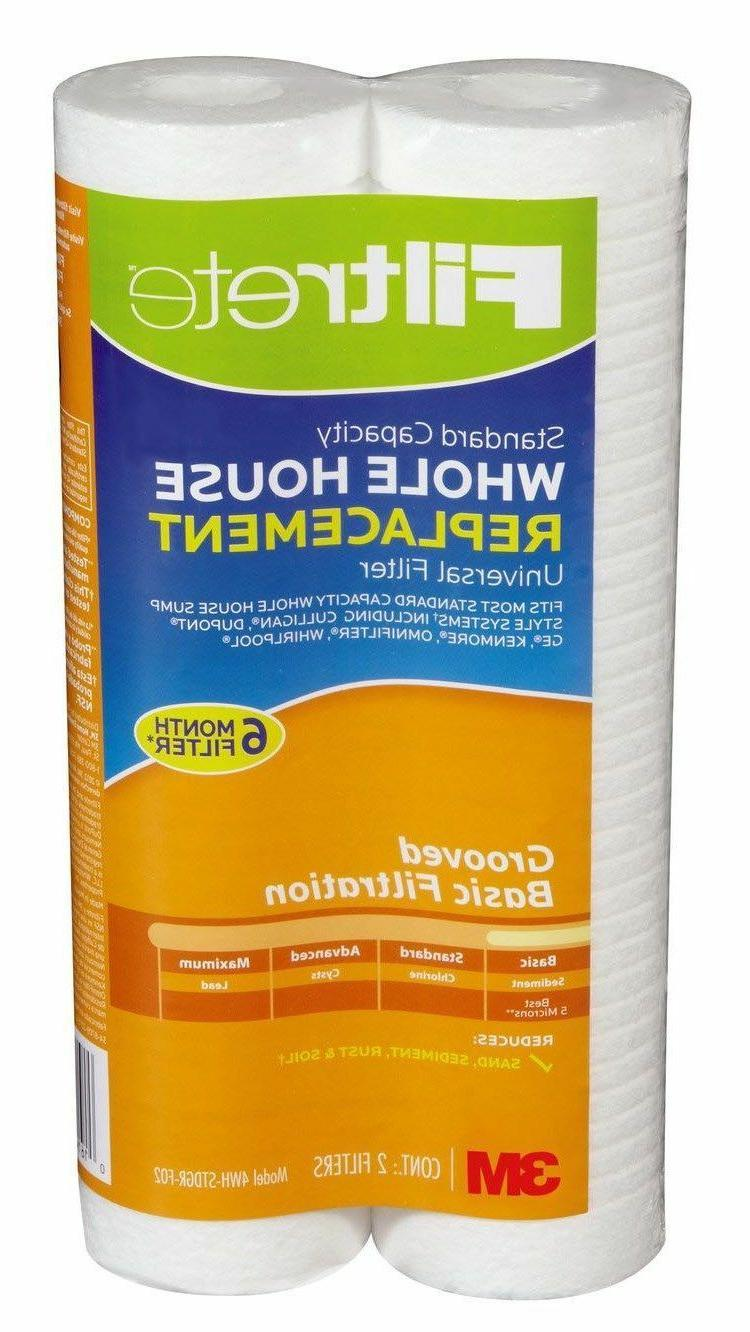 3M Filtrete Grooved Micron Water Cartridge 2-Pack 4WH-STDGR-F02