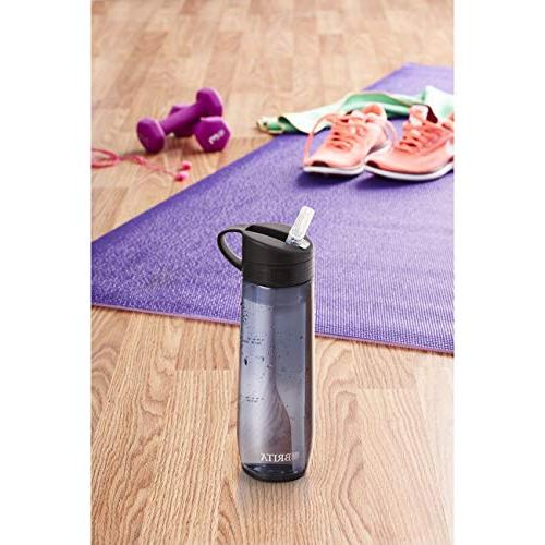 Brita Ounce Hard Sided Water with Filter - BPA - Gray
