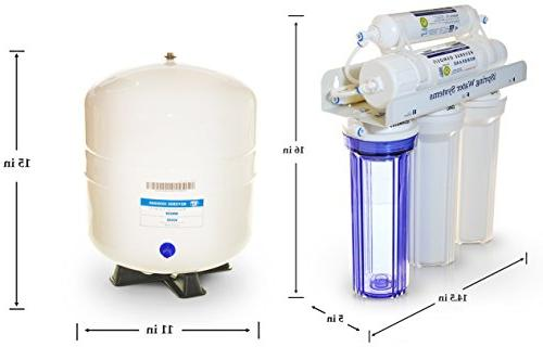 iSpring 5-Stage Purity Osmosis Drinking Filter System WQA Gold Seal Certified -