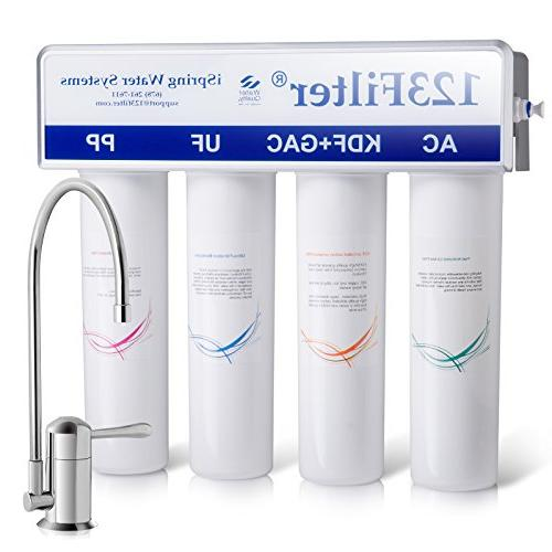 iSpring High / Inline Drinking Water Filter for Refrigerator and Removes Bacteria, Arsenic much