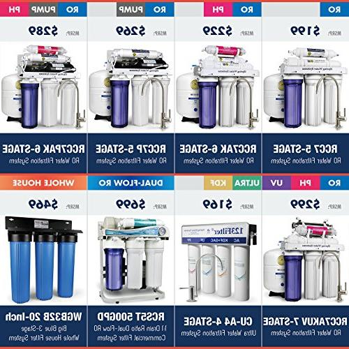 iSpring CU-A4 High / Drinking Filter System for Refrigerator RV - Removes Bacteria, Giardia, Arsenic and much