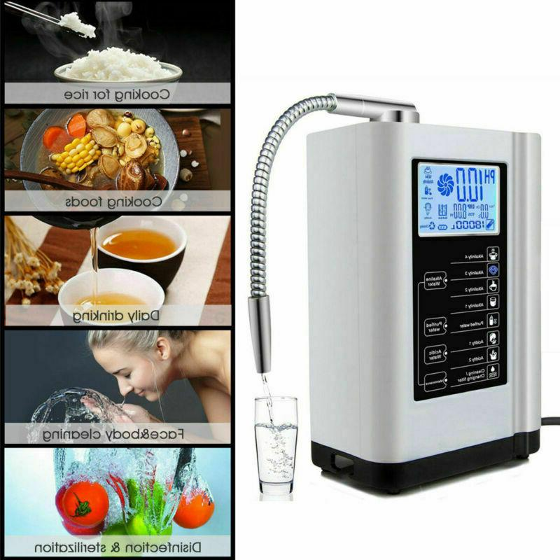 lcd touch water ionizer and purifier filter