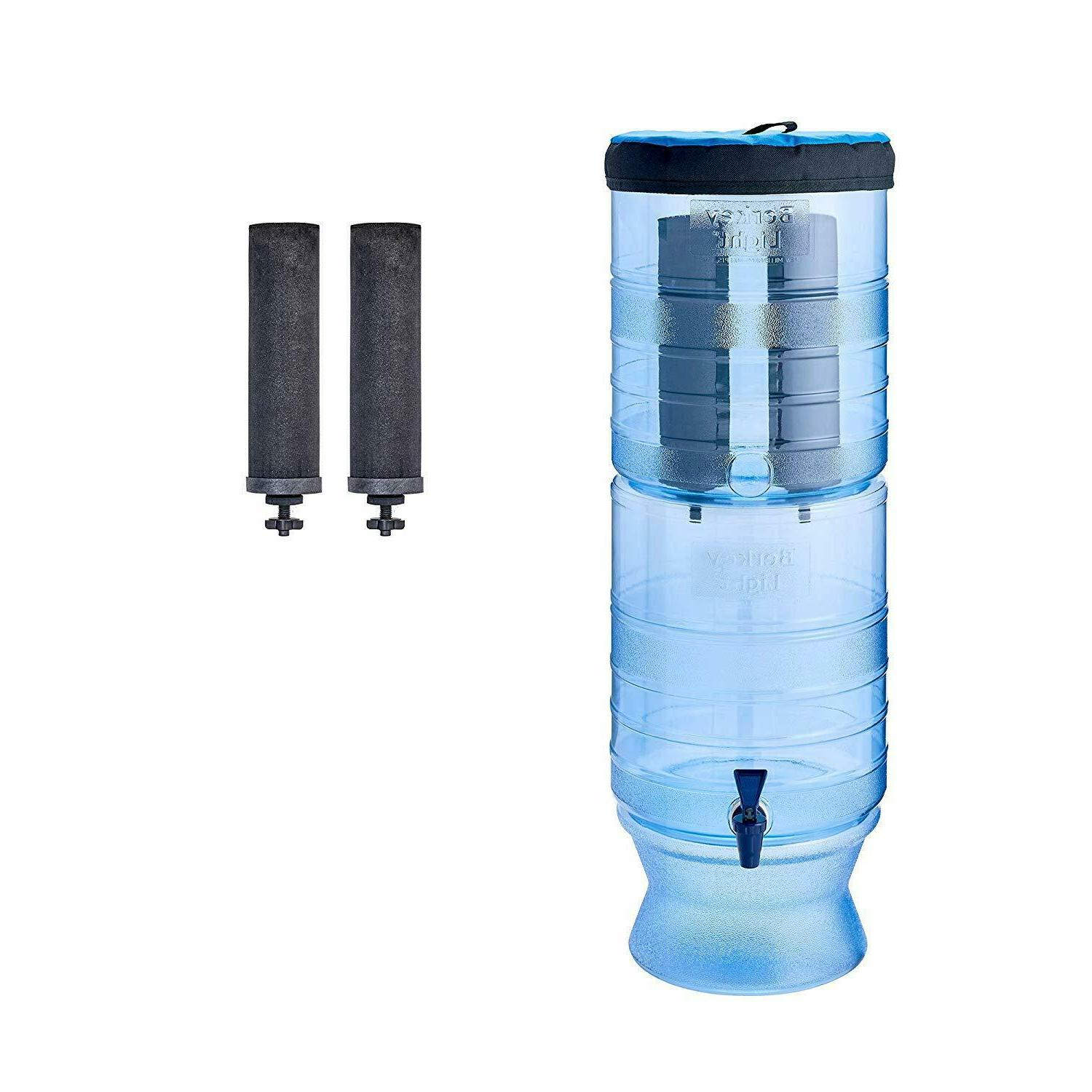 light gravity fed water filter with 2