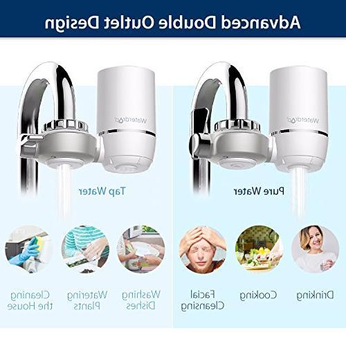 Waterdrop 320-Gallon Water Faucet Filtration Water Filter, Flouride & Chlorine Fits Standard