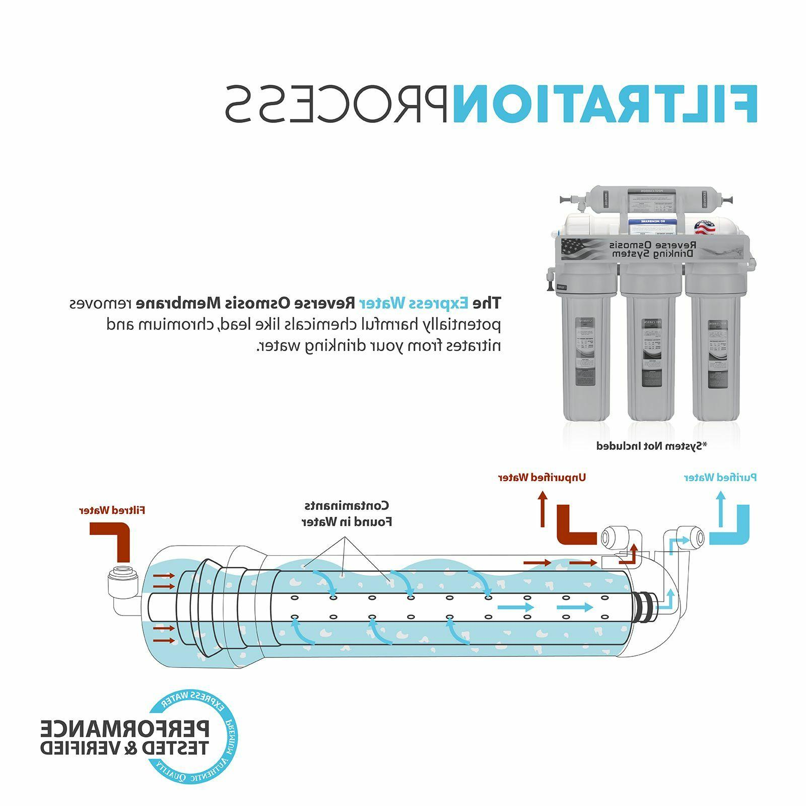 Express Water 50 GPD Membrane Osmosis Universal Compatible Replacement Filter