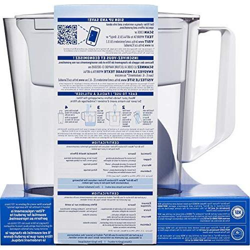 Brita Water Filter Pitcher 1 Free – Metro, White