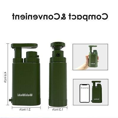 Portable Survival Purifier Camping Emergency Pump