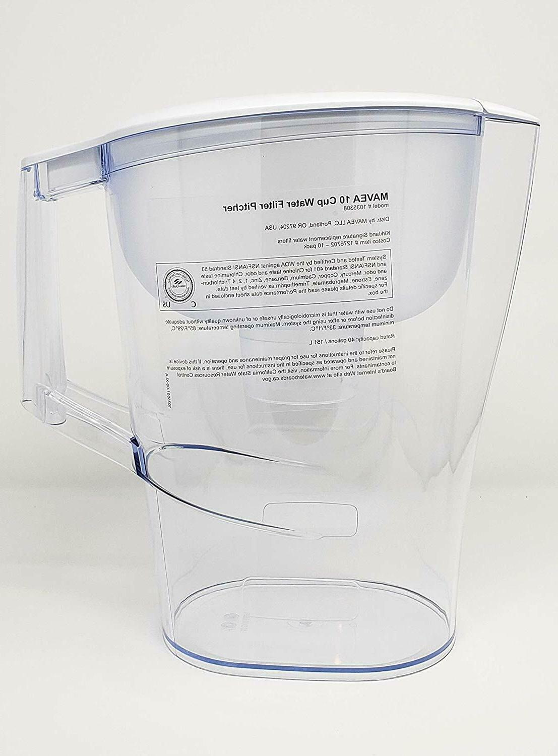 NEW 10-Cup Filter Pitcher