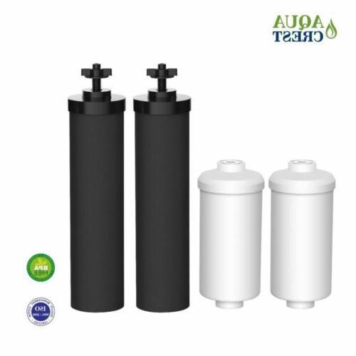 new 2 black berkey replacement filters