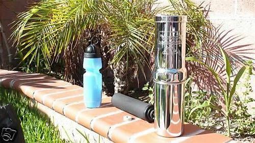 New Go Berkey Kit Water Filter System w/ Sport Berkey Bottle