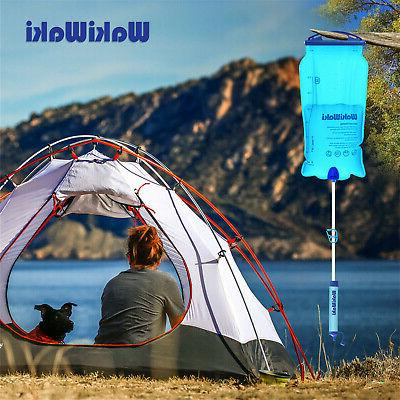Outdoor Gravity Filter Travel Camping Hiking Emergency