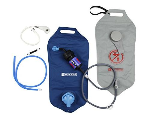 4 Litres Each Sawyer Products SP194 Complete Dual Bag 0.02 Micron Water Purifier System