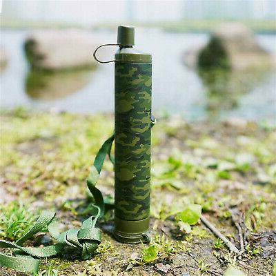 Portable Survival Water Filter Straw Purifier Hiking US