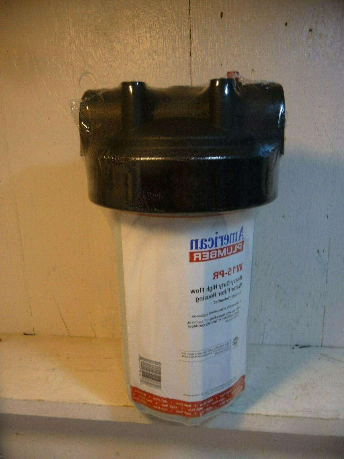 """American Plumber W15-PR Whole House Water Filter 1-1/2"""""""
