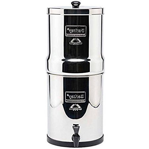 Premium Travel Water Filter Bundled with Black 2 and Stainless