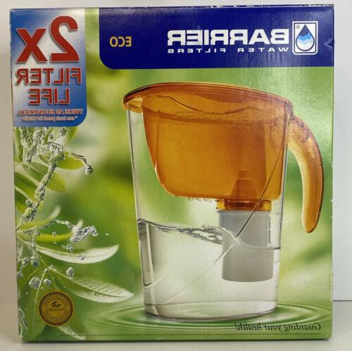 water filter pitcher eco amber color
