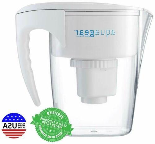 Aquagear Water Filter Fluoride Lead BPA-Free