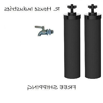 water filters 2 black replacement stainless steel