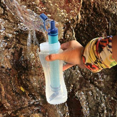 Portable Water Straw Tube Filter Purifier Survival For Outdo