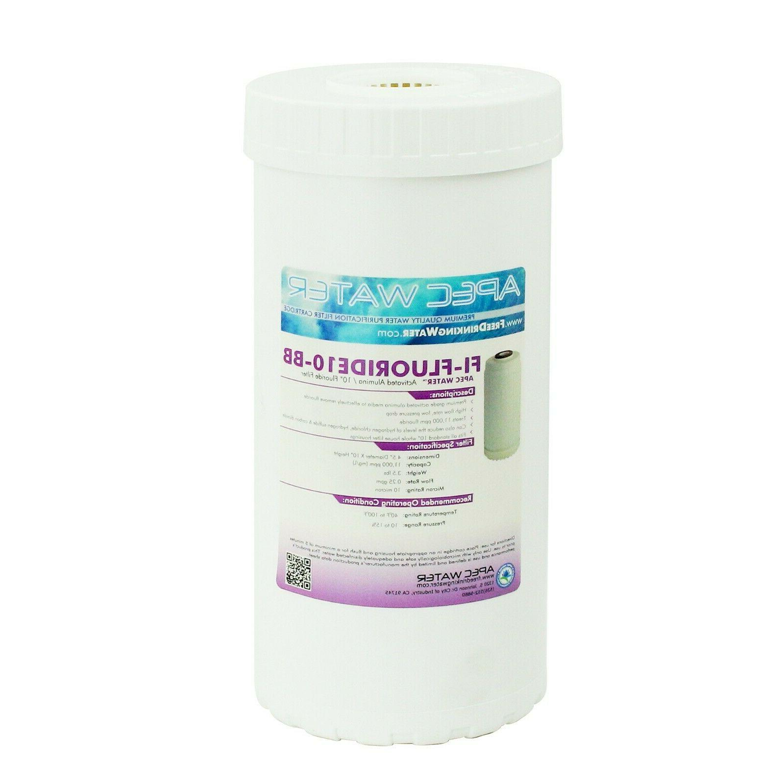 whole house fluoride removal water filter 10l