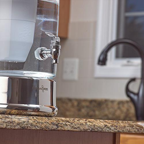 ZeroWater 40 Cup Glass with Free Water NSF Reduce Lead and Metals