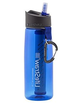 lifestraw water filter bottle 2 stage integrated straw hikin