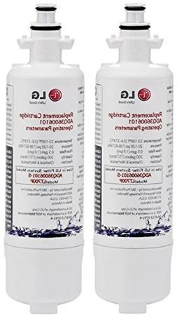 LG LT700P Water Filter, 2 Pack, White