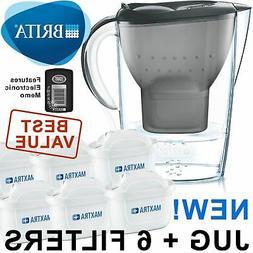 BRITA Marella MAXTRA+ Plus 2.4L Water Filter Jug + 6 Month C