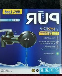 PUR Maxion Black Basic Faucet Mount Water Filter Filtration