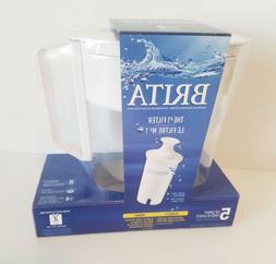 Brita Metro 5 Cup Water Filter Pitcher W/1 Standard Filter B