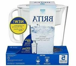 Brita Metro 5 Cup Water Filtration System Pitcher with 1 Adv