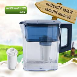 MS® 2.5L Grand BPA Free Water Pitcher with 1 Filter Blue, A