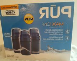 New 3 PACK PUR Basic Water Filter - Replacement Pitcher Filt