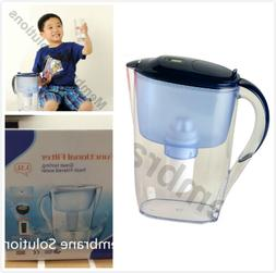 New Large 3.5L 15 Cup Brand BPA-Free Blue Water Pitcher with