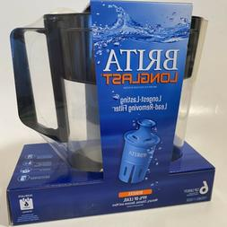 New BRITA LongLast Water Filtration System Black 6 Cup Pitch
