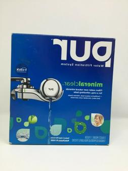 NEW Pur Water Filtration System Mineral Clear Faucet Mount-c