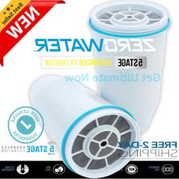NEW Zero Water Replacement Water Filter Cartridges 1/2/3/4/5