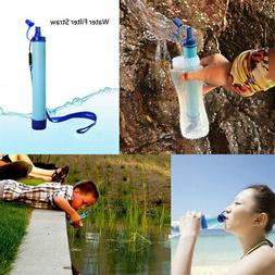 Outdoor Portable Water Straw Tube Filter 99.99% Purifier Sur