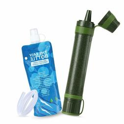 Personal Mini Small Camping Water Filter Straw Purifying Sys